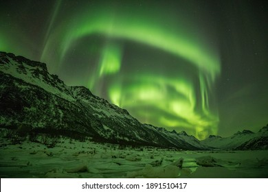 Beautifull northernlights in Lofoten, Norway