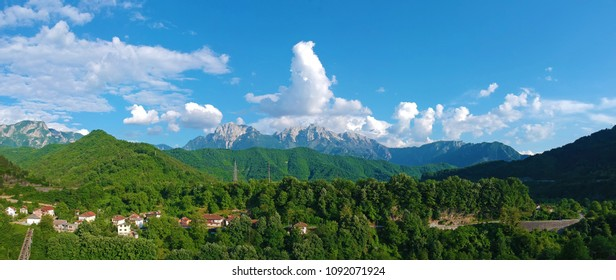 Beautifull panoramic aerial view of mountains at Jablanica, Bosnia and Herzegovina