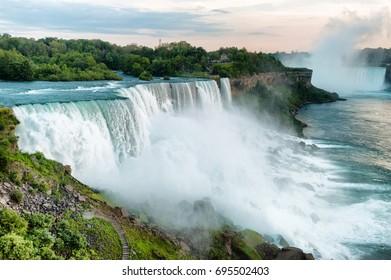 Beautifull view on Niagara Falls in daylight
