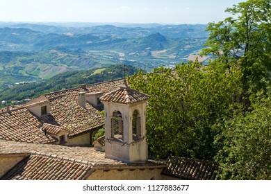 Beautifull view of San Marino - background.