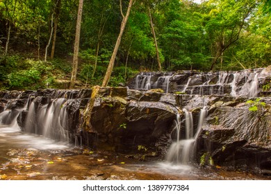 Beautifull waterfall in deep forest . Waterfall in Namtok Samlan National Park, Saraburi, Thailand