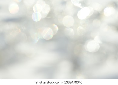 Beautifully airy light blue bokeh background.