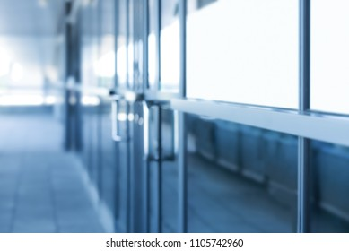 Beautifully blurred background of a glass corporate or medical building.