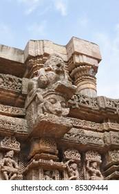 Beautifully carved crawling baby, Sun  temple konark