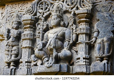 Beautifully carved idol of God, Vitthal Temple, Kolhapur, Maharashtra.