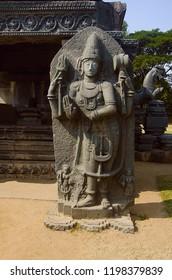 Beautifully carved Linga Shrine, Temple complex, Warangal Fort, Warangal, Telangana India