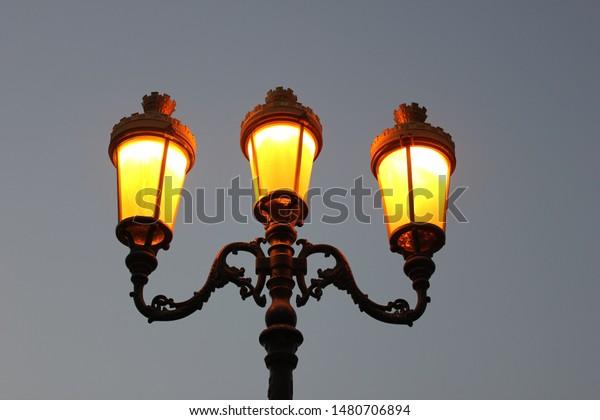 Beautifully Oriental Street Carved Photo Lights Street Stock MVzqUSpG