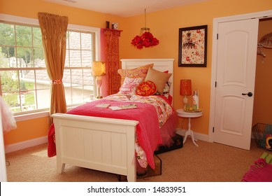 A beautifully decorated child's bedroom