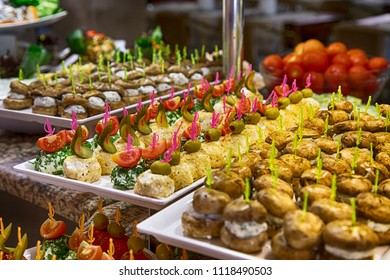 beautifully decorated food