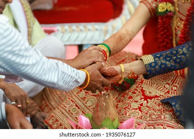 beautifully decorated Indian bride hands, Soft Focus