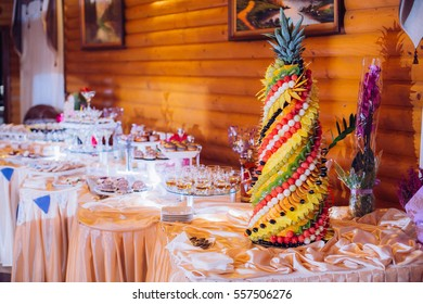 Beautifully decorated party setting with gourmet desserts