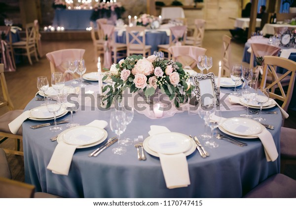 Beautifully Decorated Wedding Table Stock Photo (Edit Now) 1170747415