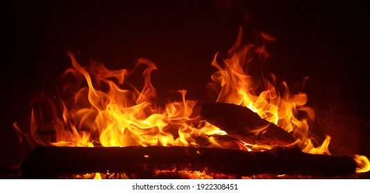 Beautifully, the fire is burning