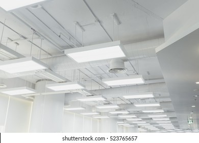 Beautifully lights and ventilation system of modern building.