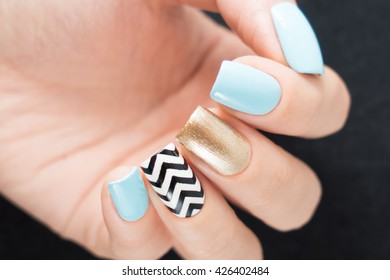 Beautifully manicured fingernails