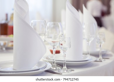 Beautifully served table in a restaurant