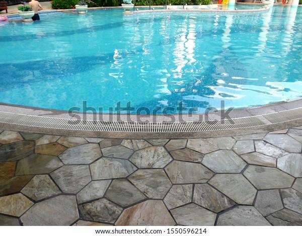 Beautifully shaped outdoor swimming pool, Taiwan