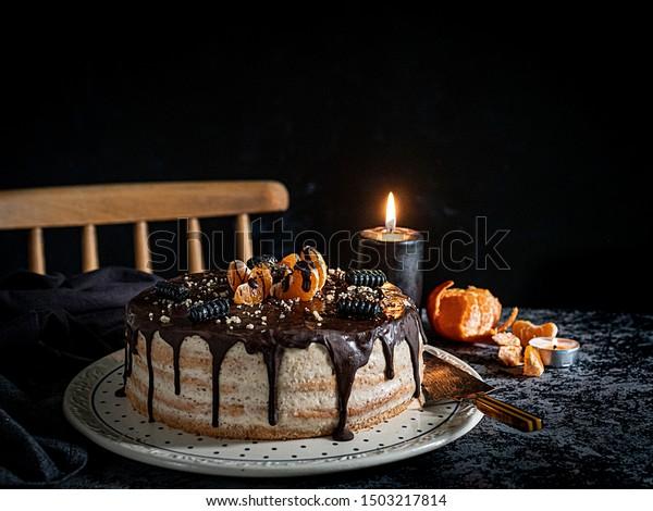 Outstanding Beautifully Styled Decorated Birthday Cake One Stock Photo Edit Funny Birthday Cards Online Inifofree Goldxyz