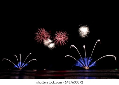 Beautify fireworks at the beach