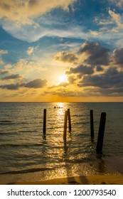 Beautilfu Sunset at Ao Tapao Beach, Koh Kood Island, Trat, Thailand