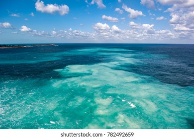 Beautlful caribbean sea,Cococay island Bahama.