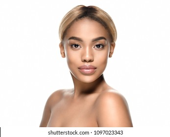 Beauty african woman skin care concept beautiful female