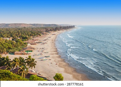 Beauty Arambol beach landscape, Goa state, India