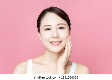 Beauty asian woman. Skincare concept.