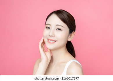 Beauty asian woman. Skincare concept.