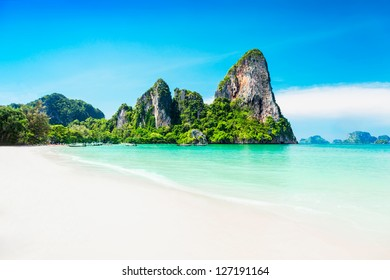 Beauty beach and limestone rocks
