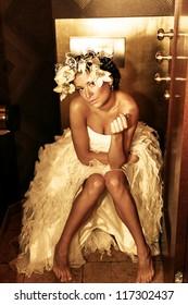Beauty bride posing