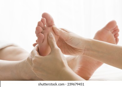 Beauty care with woman foot