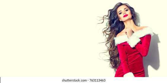 Christmas Model.Beauty Salon Christmas Images Stock Photos Vectors