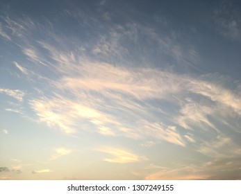 Beauty cloud sunset