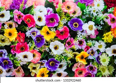 Beauty of colorful flowers decorated in the party.