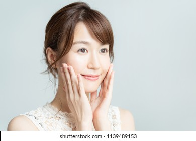 Beauty concept of asian girl.