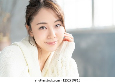 Beauty concept of an asian woman.