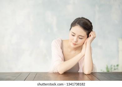 Beauty concept of an asian woman.
