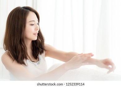 Beauty concept of asian woman. Skin care. Body care.