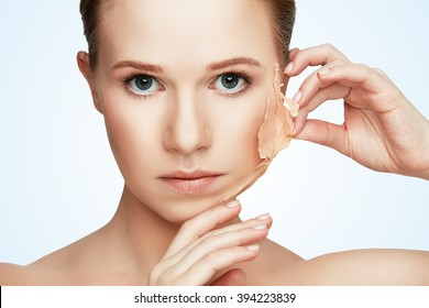 beauty concept rejuvenation, renewal, skincare and skin problems - Shutterstock ID 394223839