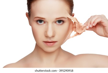 beauty concept rejuvenation, renewal, skincare and skin problems