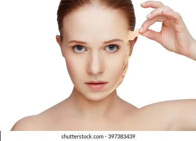 beauty concept rejuvenation, renewal, skincare and skin problems - Shutterstock ID 397383439