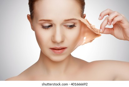 beauty concept rejuvenation, renewal, skincare and skin problems - Shutterstock ID 401666692
