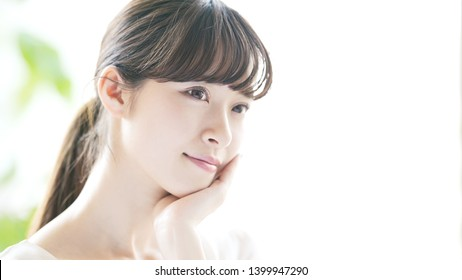 Beauty concept of a young asian girl.