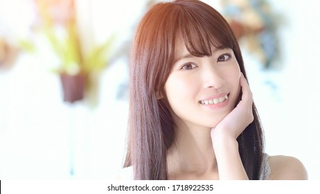 Beauty concept of a young asian woman.