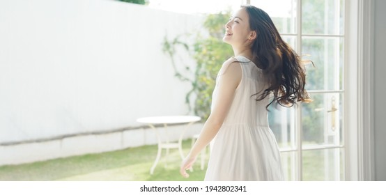 Beauty concept of young asian woman. Skin care. Body care.