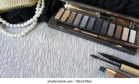 beauty cosmetic set up scene background