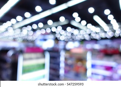 Beauty cosmetic shop store abstract blur background