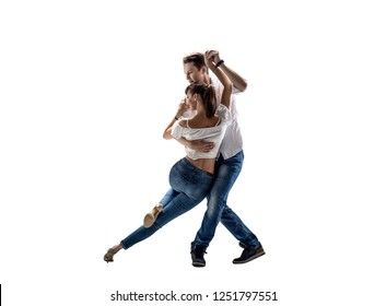 beauty couple dancing