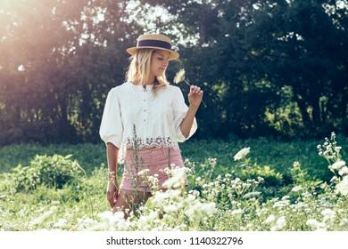 Beauty daydreamer woman